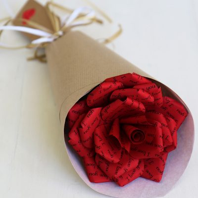 Paper Gift Red Rose