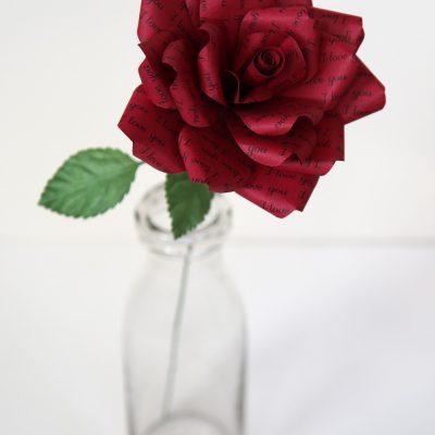 Paper Rose Romantic Gift