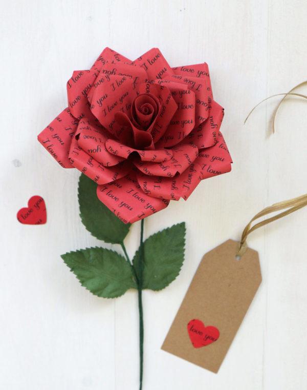 Romantic Gift - Paper Rose