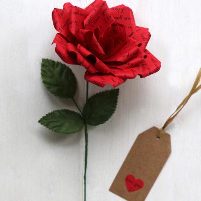 Romantic Gift Paper Rose