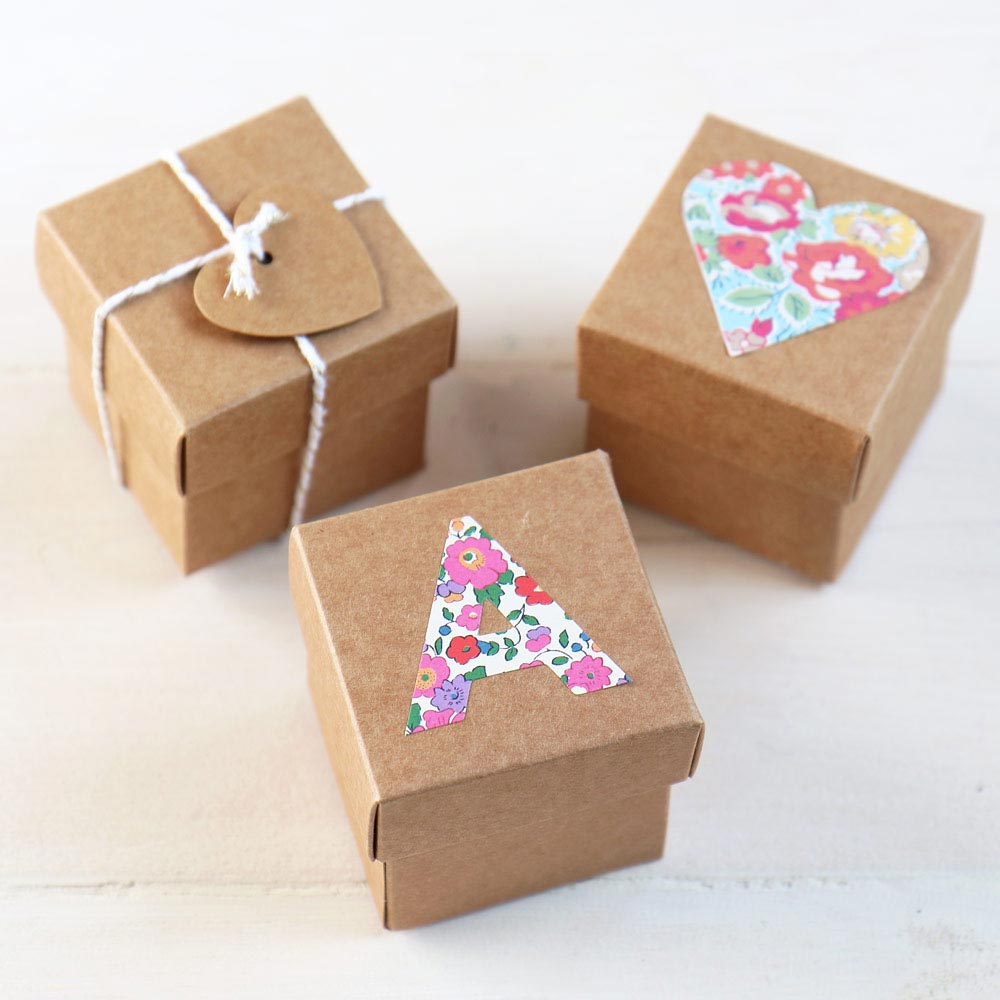Wedding Favour Box | Kraft Square 5cm Box with Lid for Weddings