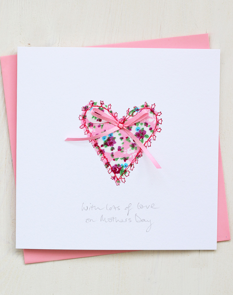 Wondrous Heart Mothers Day Card Hand Embroidered Design Birthday Cards Printable Opercafe Filternl