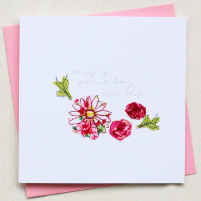 Mothers Day Embroidered Card