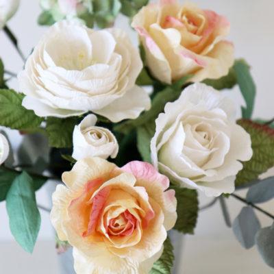 Paper ranunculus rose ivory white paper rose buy online paper ranunculus rose ivory white paper rose mightylinksfo