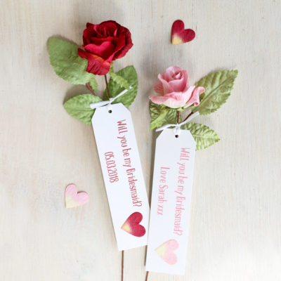 Will you be my bridesmaid rose