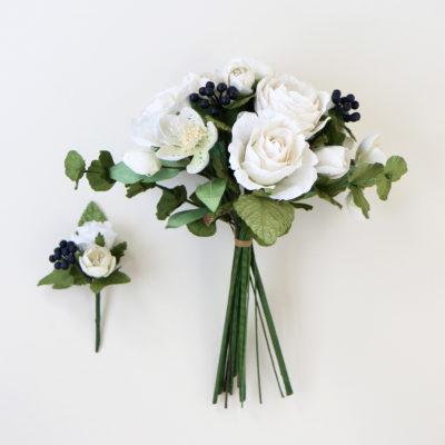 Paper Bouquet & Buttonhole