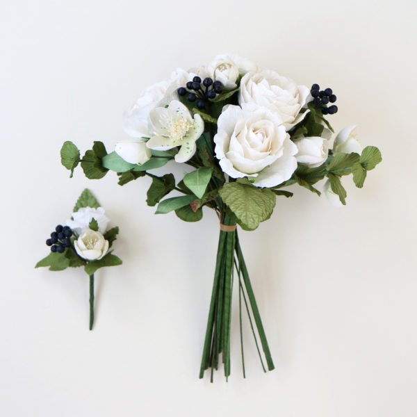 Paper Bouquet & Buttonhole