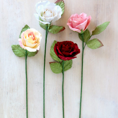 Paper Rose Standard Size