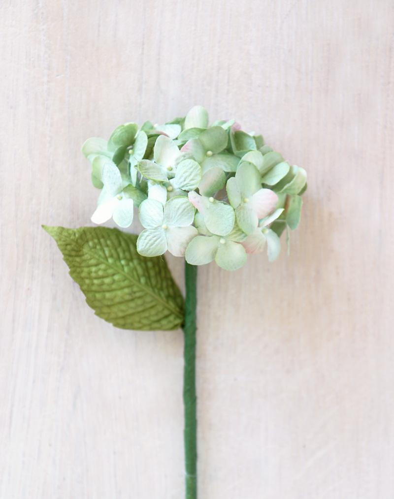 Paper hydrangea green pink paper flowers mightylinksfo Gallery
