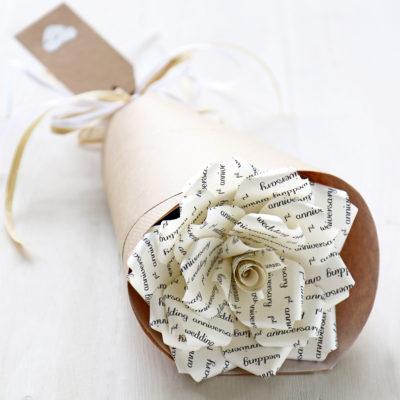1st Anniversary Paper Rose