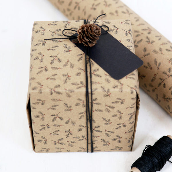 Brown Berry Wrapping Paper