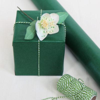 Dark Green Gift Wrap
