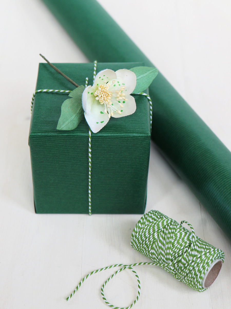 Green Wrapping Paper Dark Green Christmas Gift Wrap