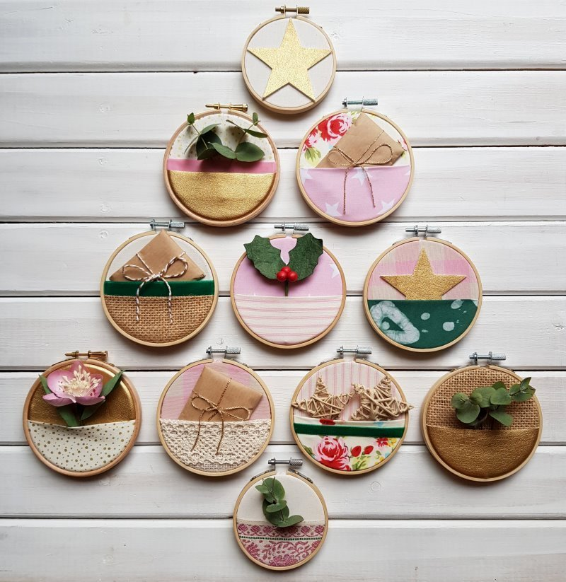 embroidery hoop decorations