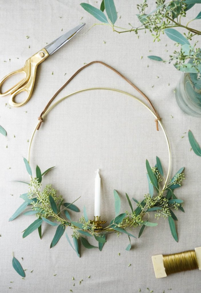 scandinavian candle wreath