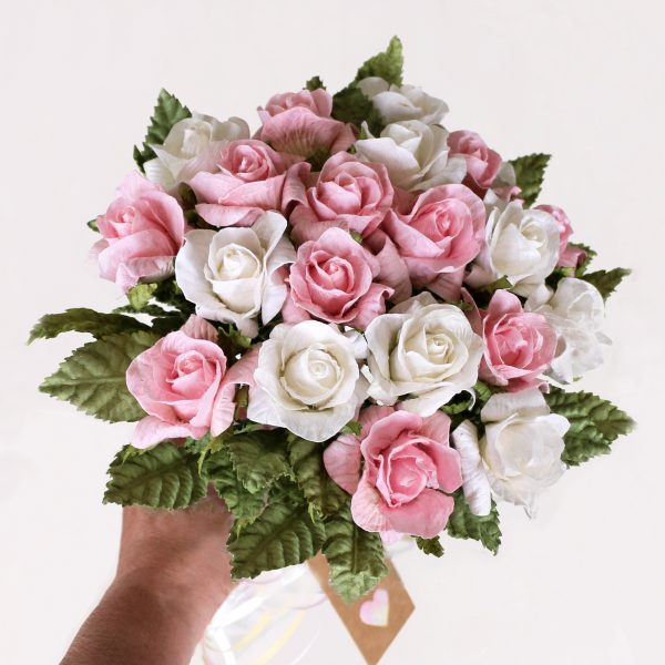 Paper Bouquet Pink & White