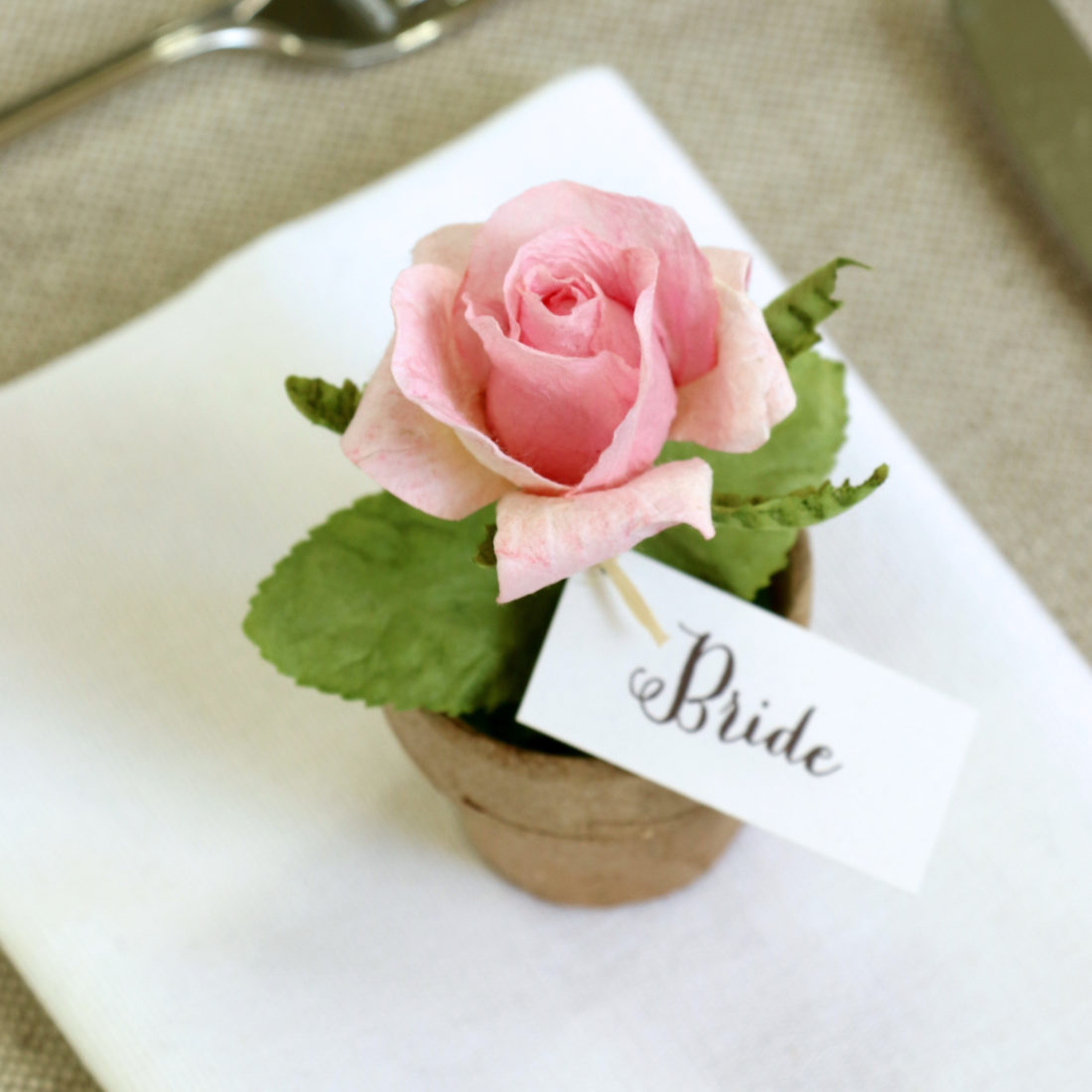 Paper Rose Wedding Favour