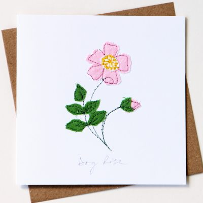 Dog Rose Card Pink