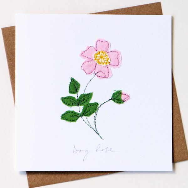 Dog Rose Card Pink