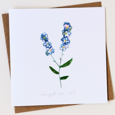 Forget-me-not notelet
