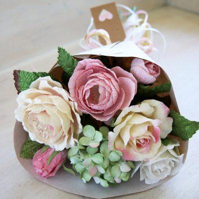 Paper Rose Summer Posy