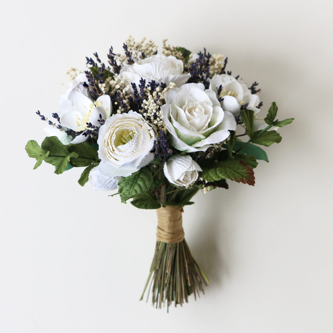 Dried Wedding Bouquet with Paper Flowers
