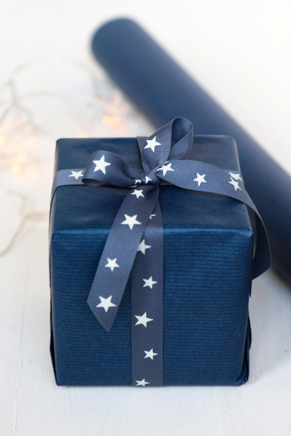 Navy Blue Wrapping Paper