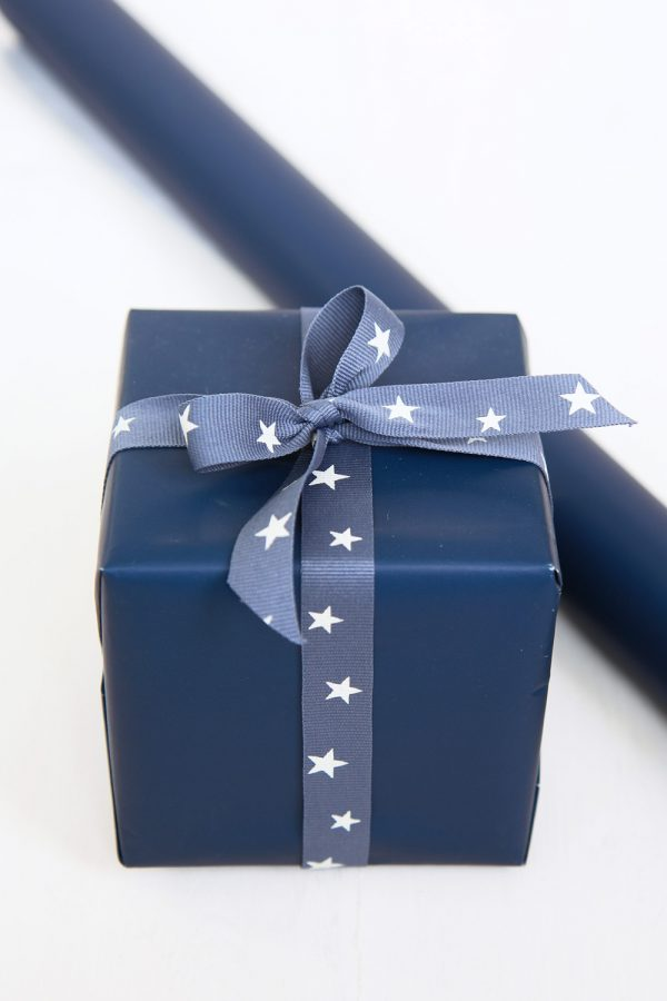 Navy Blue Gift Wrap