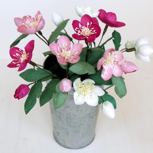 Paper Christmas Rose Bouquet