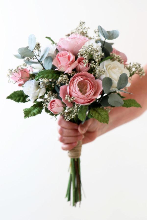 Wedding Bouquet Pink Green