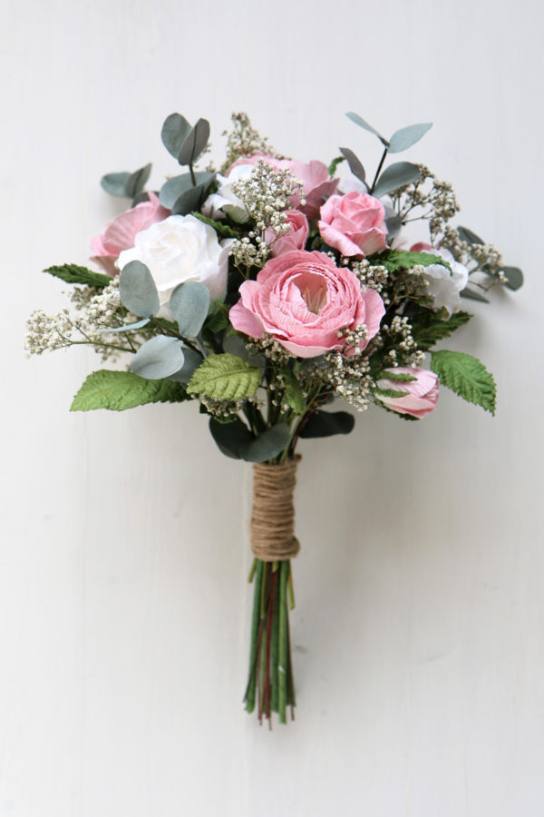 Wedding Bouquet Pink Ivory