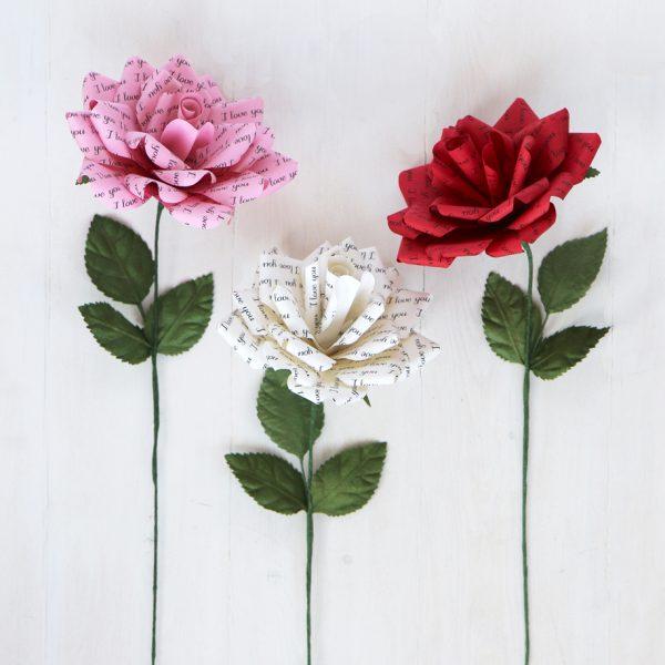 Paper Rose 'I Love You'