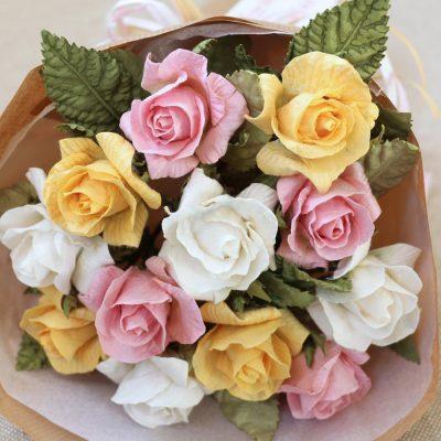Handmade Paper Rose Gift Bouquet