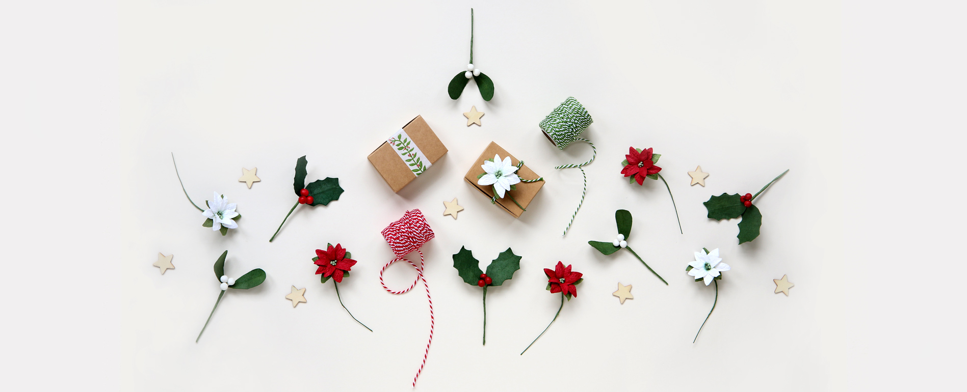 Christmas Paper Flowers, Wrap & Gifts
