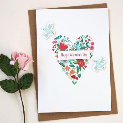 Valentine's Bird Card