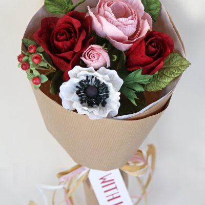 Valentines Paper Posy