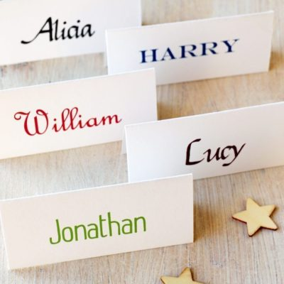 Personalised Name Place Cards