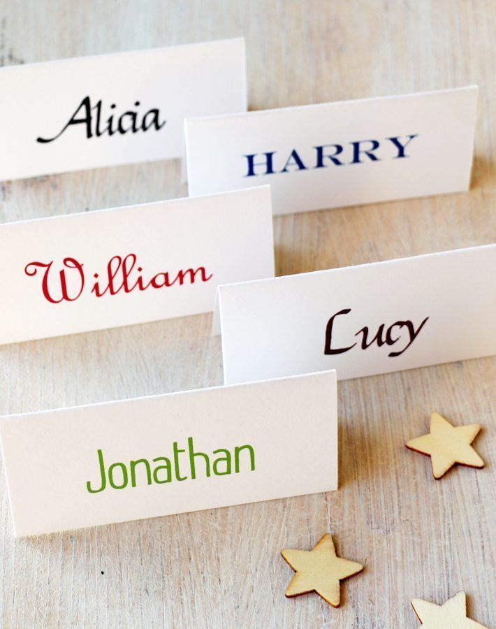 personalised name place cards  name cards for weddings