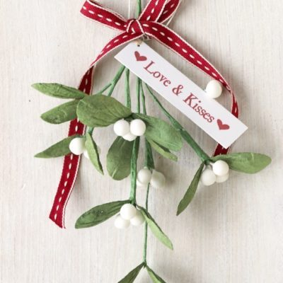 Paper Mistletoe Sprig