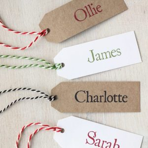 Personalised Place Name Tag