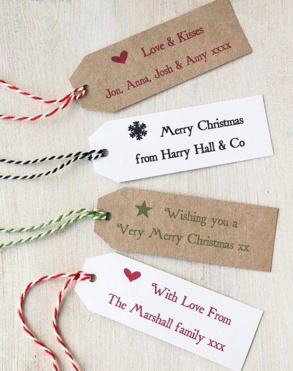 Personalised Christmas Gift Tag