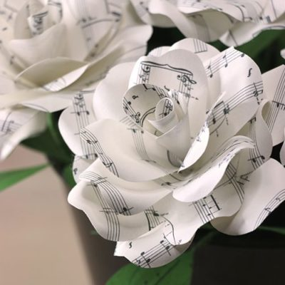Music Paper Rose Sheet Music Paper Flower For Anniversaries