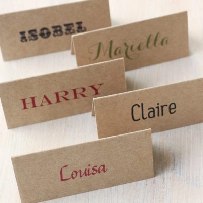 Personalised Kraft Place Cards