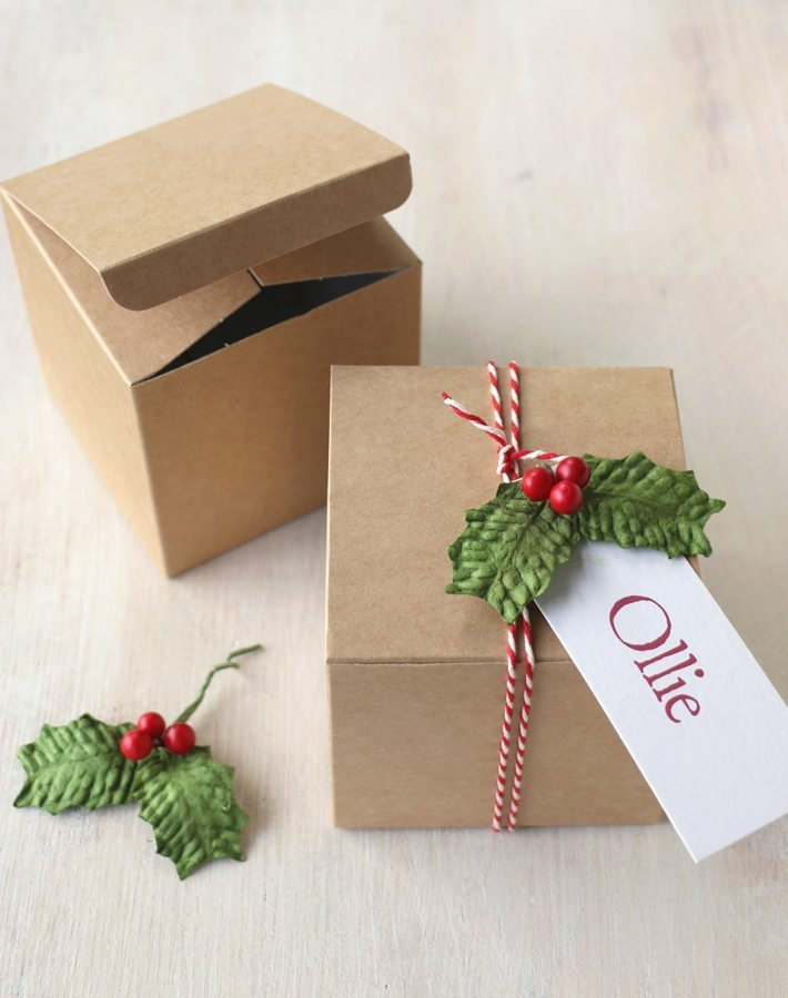 Diy Christmas Gift Box Small Gift Box From Paper Tree
