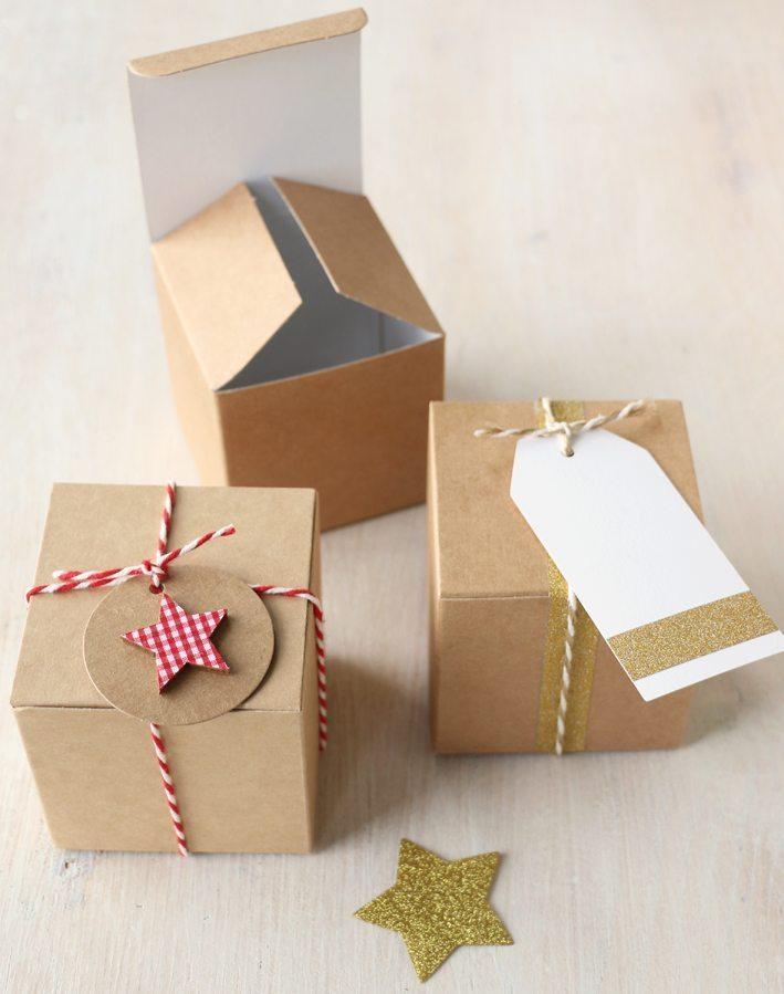 Christmas Gift Box.Diy Christmas Gift Box 7 5cm Square