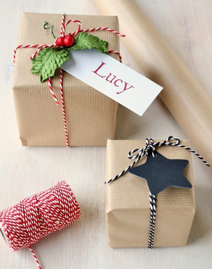 Brown Kraft Wrapping Paper | Rustic Style Gift Wrap