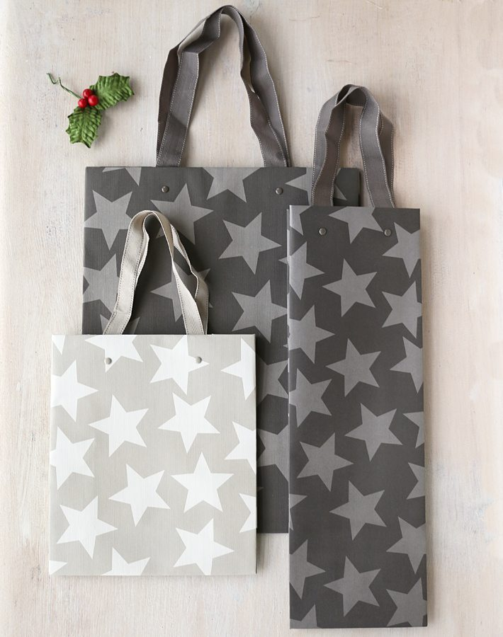 Star Christmas Gift Bags Paper Tree