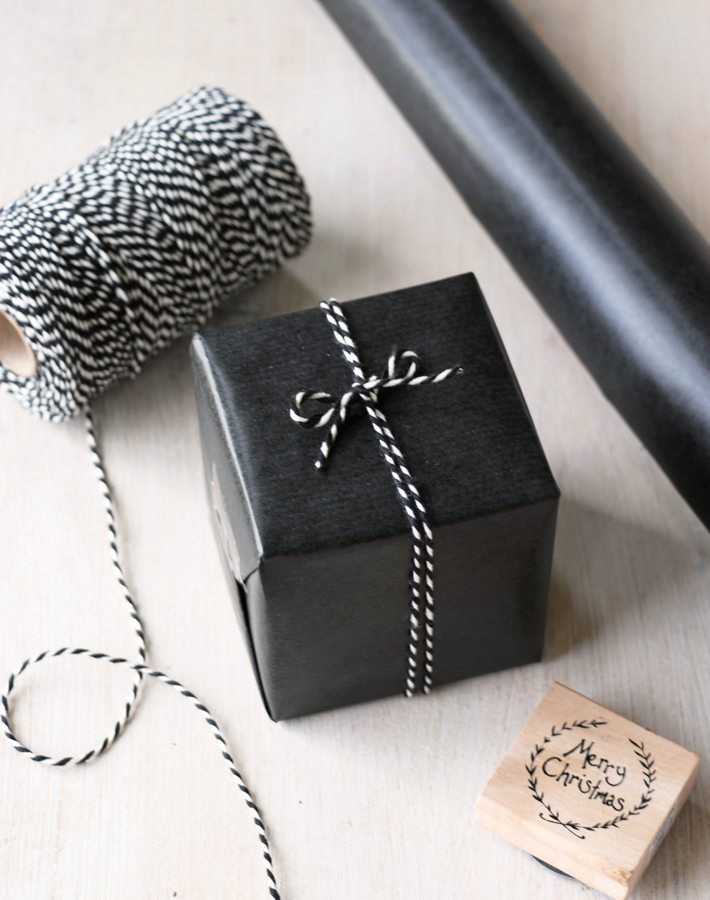 Black Wrapping Paper Rustic Contemporary Gift Wrap From Paper Tree