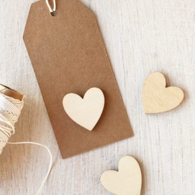 Wood Mini Hearts