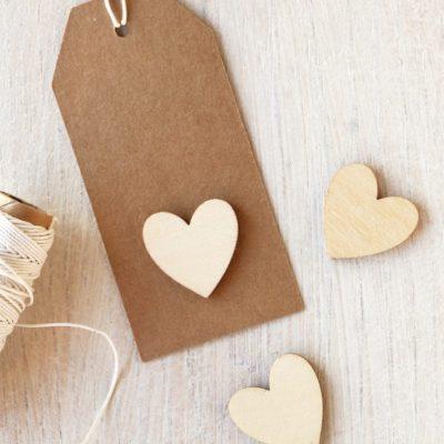 Wood Mini Hearts